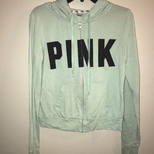 PINK women's zip up jacket, size small